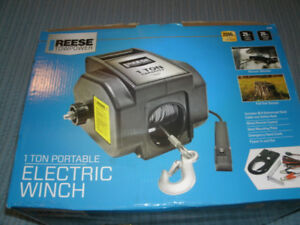 """""""Reese"""" 1 Ton Electric Portable Winch...New in box"""