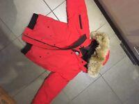 Canada goose red coat
