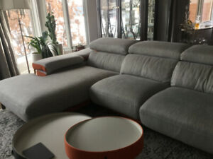 Eurostyle quality couch (sectional) and chair, almost new