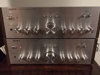 Vintage Sony stereo amplifiers