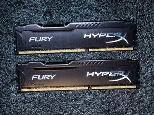 Kingston HyperX FURY 16GB Kit (2x8GB) 1866MHz DDR3 CL10 DIMM - B
