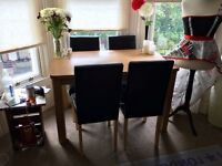 Swanley Argos 4 chairs table without chairs