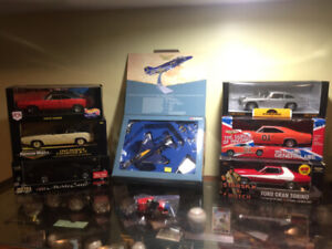 Diecast Cars and Blue Angels Plane