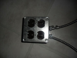 Metal outlets