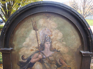 Oil painting, painted panel, Architectural salvage, Antique London Ontario image 3