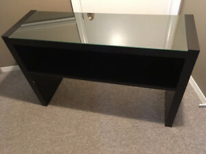 Glass top side table/console