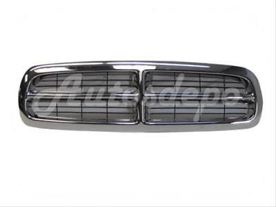For DAKOTA 1997-2004 / DURANGO 1998-2003 GRILLE CHROME FRAME WITH BLACK INSERTS