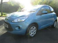 09/09 FORD KA 1.2 STYLE 3DR HATCH IN MET BLUE