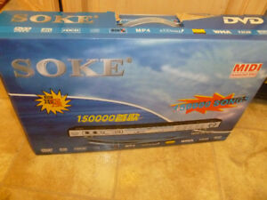 Soke Karaoke DVD Player Progressive Scan MP4 USB DIVX WMA