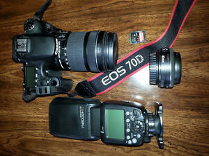 Canon 70D W 18-135mm lens and Acc