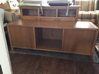 Sold oak TV table