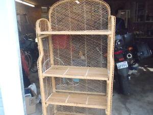 Bamboo rattan Shelves