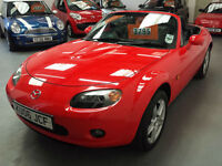 2006 MAZDA MX5 IN BRIGHT RED - 1.8cc - FEBRUARY 2018 M.O.T