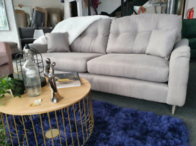 NEW Toleno Steel 3 Seater Sofa DELIVERY AVAILABLE