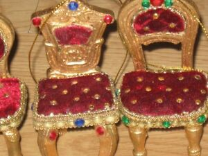 Miniature Chairs for Dollhouse