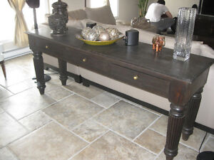 Artemano antique style solid wood console table