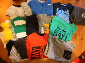 Kids boys clothes bundle 2-3 ys t shirts shirts