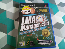 PS2 game LMA manager 2003