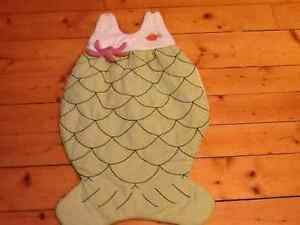 Quilted mermaid Halloween bunting bag