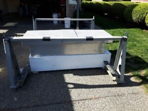 Racks and aluminum box from a truck box