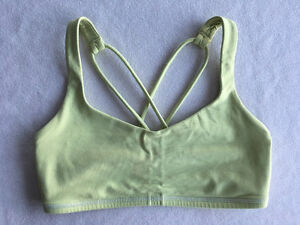 Lululemon Free To Be Bra - Light Yellow - Size 4 - GUC