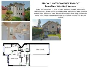 SPACIOUS 1-BEDROOM SUITE FOR RENT