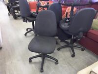 20% OFF ALL ITEMS SALE - Black / Grey Office Chairs - 30 Available - Can Deliver For £19