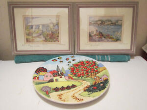 Double Matted Framed Watercolour Art Work C. Holding Carole