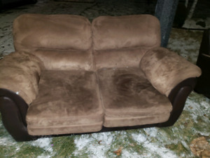 Free sofa and loveseat.  Pickup before the storm !