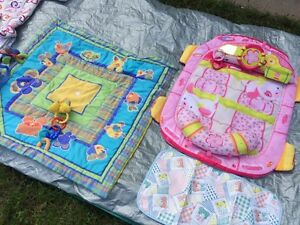 Baby mats, baby bath, travel chair, clothes