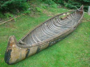 Cedar or birch bark canoe, parts/carcass wanted