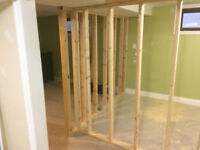 Framing new basement WE CAN PROVIDE ALL ASPECTS OF IMPROVMENTS,