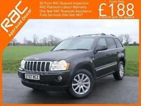 2007 Jeep GRAND CHEROKEE 3.0 CRD Turbo Diesel Overland 4x4 4WD Auto Sat Nav Blue