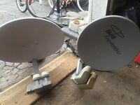 2 bell satellite dished