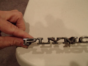 PLYMOUTH Script Emblem 1968-81 Plymouth Grill/Hood/Trunk/Bumper Sarnia Sarnia Area image 3