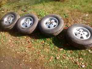 Aluminum Jeep rims with P234/75R15 M&S tires
