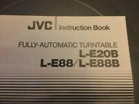 JVC LE88 turntable