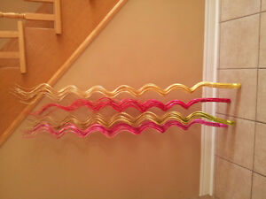 Set of 4 multicoloured spiral wooden decorative accents NEW London Ontario image 1