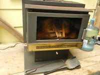 Wood burning fireplace, air tight heater, wood stove