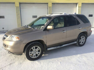 2004 ACURA MDX TOURING, 7 SEATER, 158000k, DVD, NAVI,ONE OWNER!