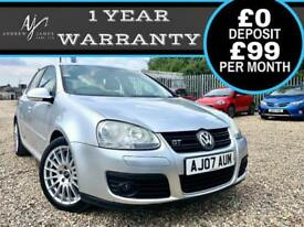 2007 VOLKSWAGEN GOLF 2.0TDI DPF 170 GT OZ WHEELS ☆ DIESEL GTI ☆ FSH ☆ NEW MOT!