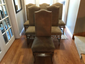 Set of 6 upholstered French Mouton Dining Chairs