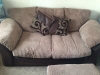 2 Seater Sofa bed & storage footrest
