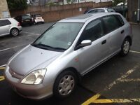 2002 HONDA CIVIC NEW LOOK FACELIFT SHAPE. MOT TAX LOW MILES. LOOK AT THE PICTURES 70,000 Miles