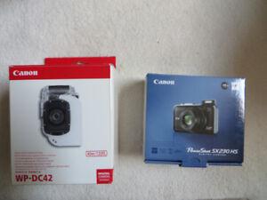 Underwater Camera Canon SX230 HS and Underwater Housing WP-DC42