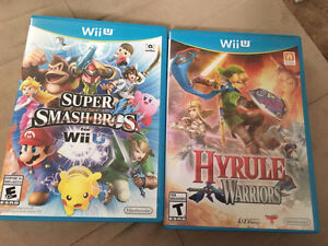 Hyrule Warriors, Super Smash Bros (gently used, work perfect)