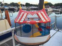Circus theme hamster cage