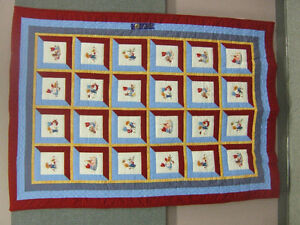 Homemade Child's Single Bed Quilt