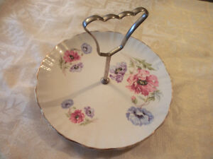 "Vintage ""Old Foley"" Plate with Handle"