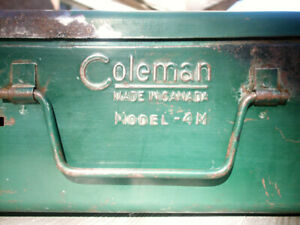 1962 Coleman 4M Camp Stove - made in Canada